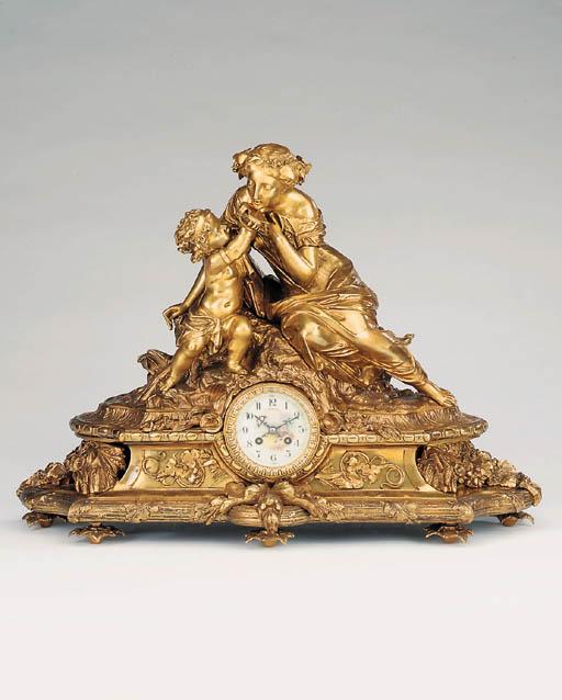 A Napoleon III bronze striking