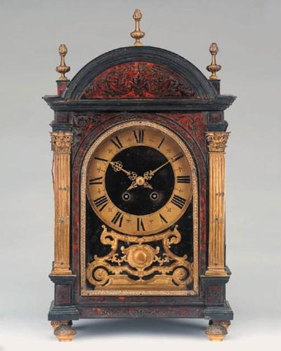 A Louis XIV style ebonised, fo