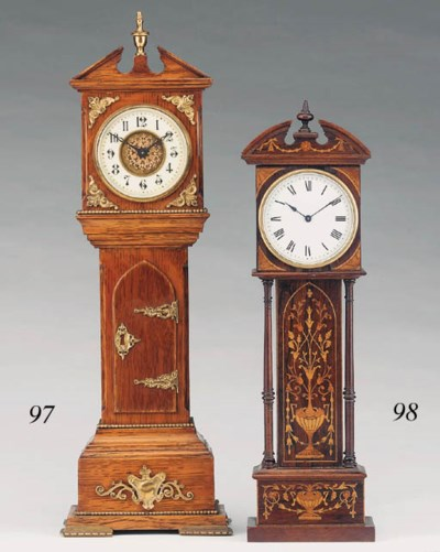 A French rosewood and inlaid m