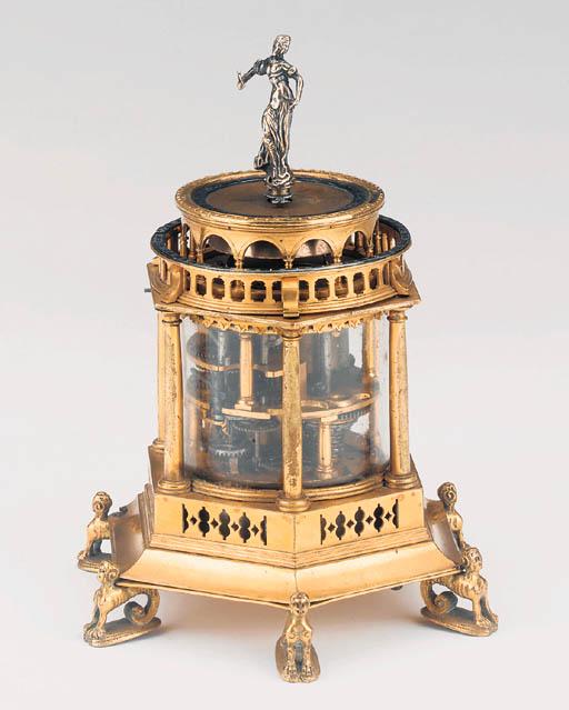 A Continental gilt-brass strik