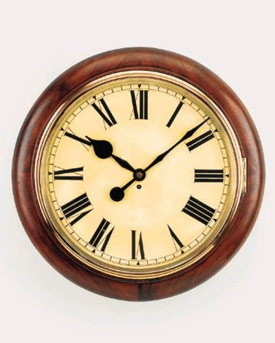 An English giant mahogany dial