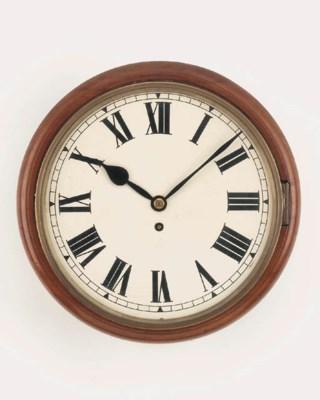 An English mahogany dial timep