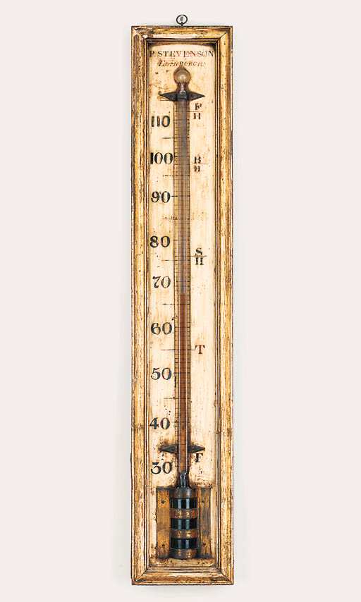 A Regency large wall thermomet
