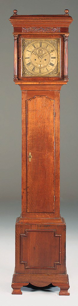 An English oak longcase clock
