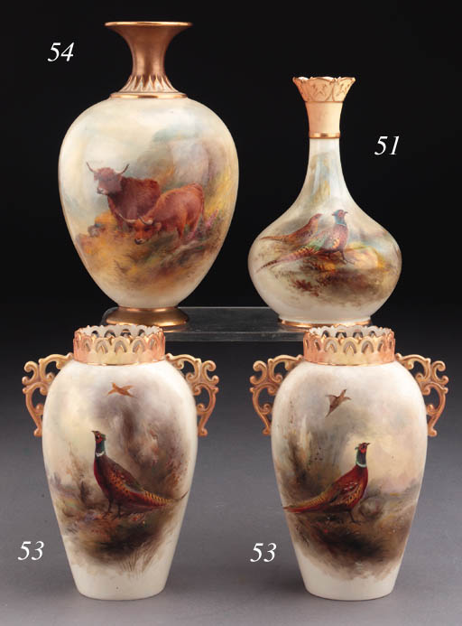 A Royal Worcester squat vase