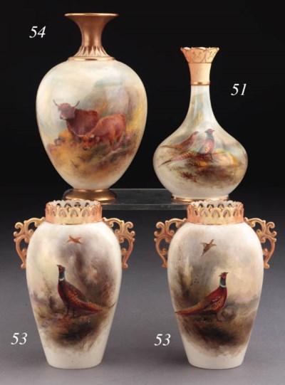 A Royal Worcester squat vase