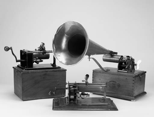 Three phonographs: