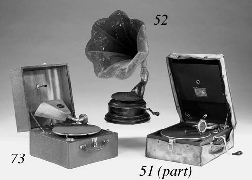 Two portable gramophones: