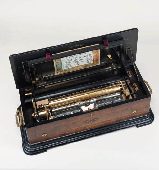 A Mandoline zither musical box, No. 14590,