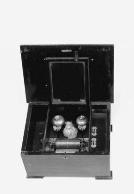 A dancing doll musical box