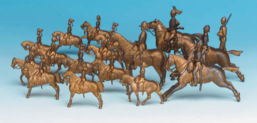 Miniature Gilt Cavalry