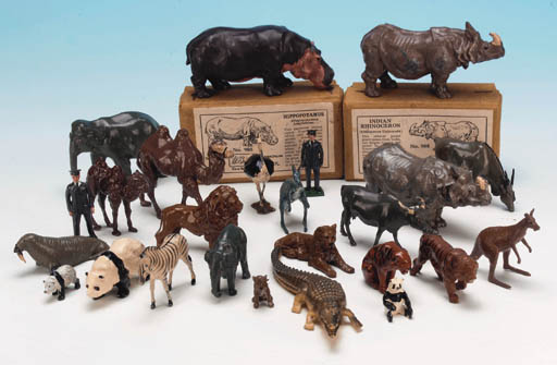 Large Zoo Animals and Keepers