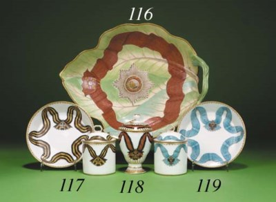 A porcelain leaf Dish from the