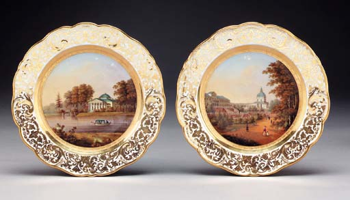 Two porcelain topographical Pl