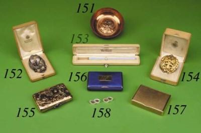 A gem-set silver Art Nouveau B