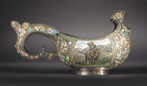 A large silver-gilt and cloiso