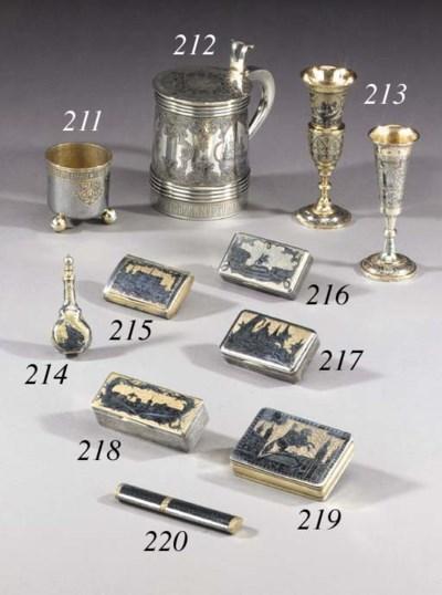 A silver-gilt and niello Scent