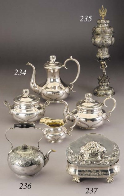 A silver part Tea- and Coffee-
