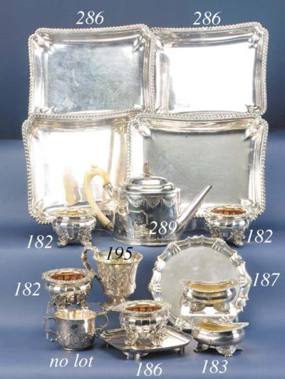 FOUR GEORGE IV ENTREE DISHES