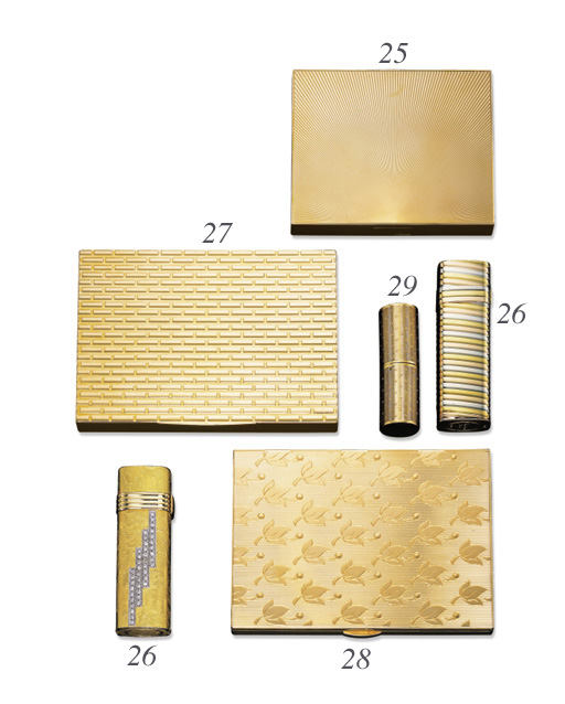 TWO 18K GOLD LIGHTERS, BY CHRI