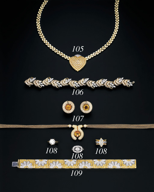 A DIAMOND AND 18K GOLD NECKLACE, BY FRED