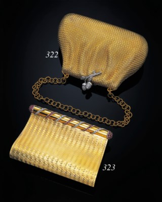 A RUBY AND DIAMOND VANITY CASE