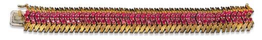 A RUBY BRACELET, BY TIFFANY &