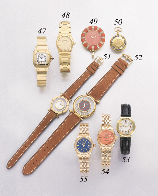 Rolex. A lady's 18K pink gold self-winding waterproof wristwatch with sweep centre seconds, date and bracelet