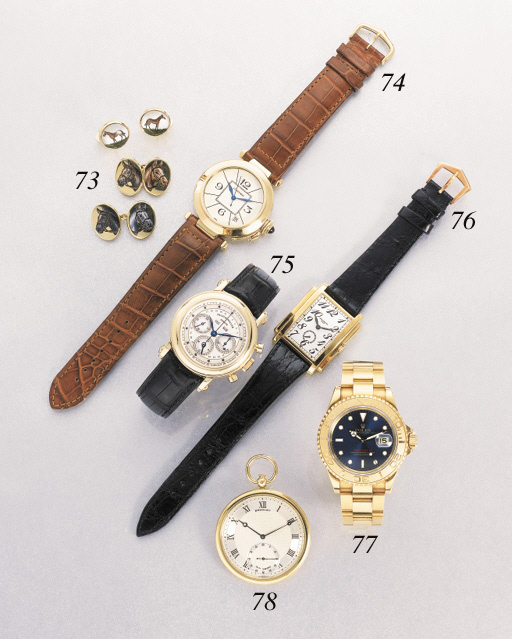 Rolex. An 18K gold self-winding waterproof wristwatch with sweep centre seconds, date and bracelet
