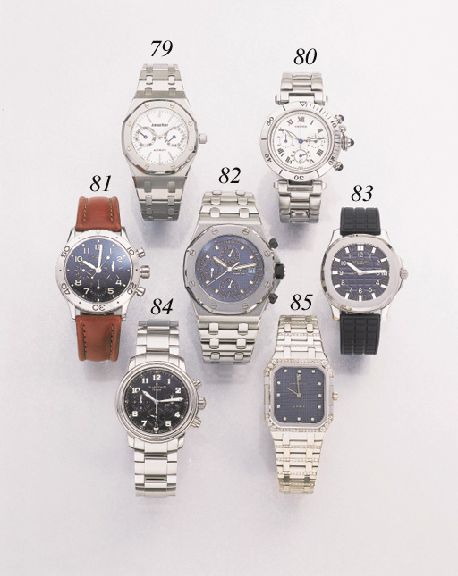 Cartier. A stainless steel chronograph wristwatch with date