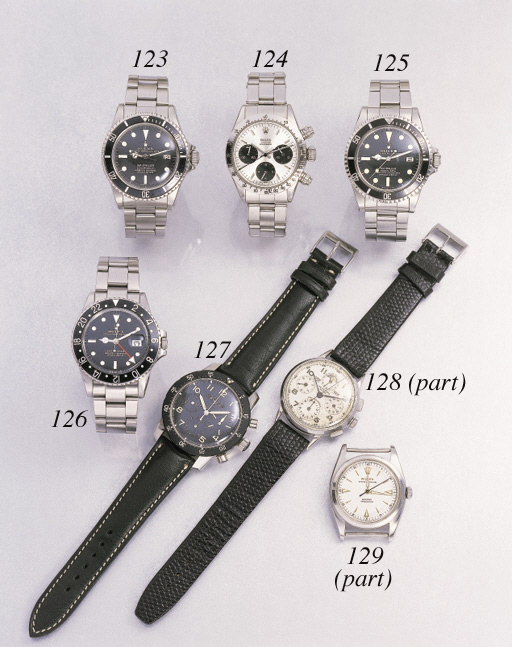 Rolex. A stainless steel self-winding waterproof wristwatch with sweep centre seconds, date and bracelet