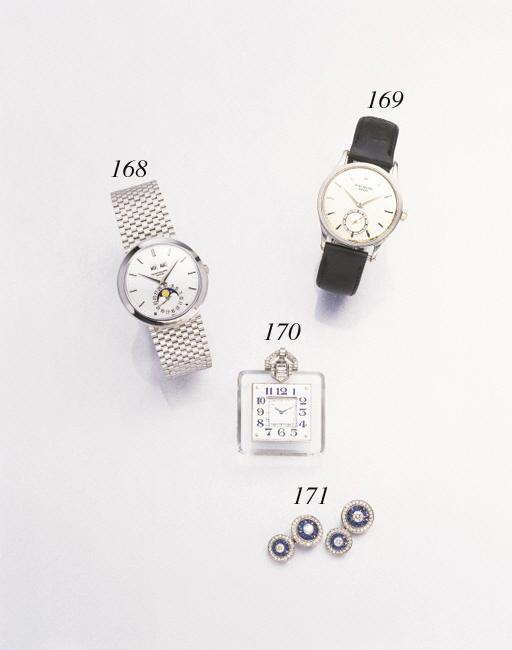 Patek Philippe. A fine 18K white gold wristwatch
