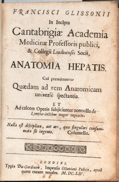 GLISSON, Francis (1597?-1677).