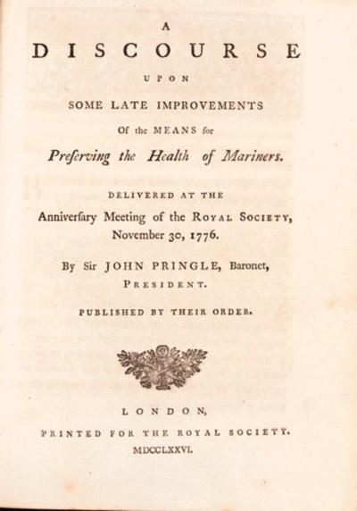 PRINGLE, Sir John (1707-1782).