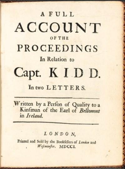 [KIDD, Capt. William (d.1701)]