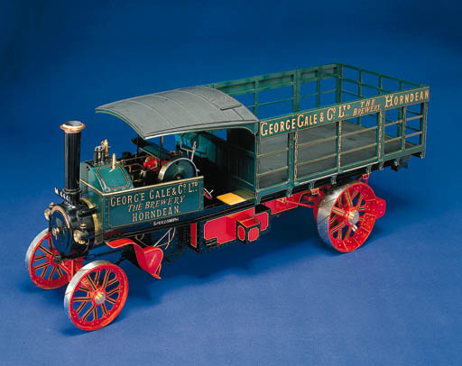 An extremely fine 1½in.:1ft scale model of the 4-ton Foden Steam Wagon Reg. No. M 4441, engine no. 3328, of circa 1912