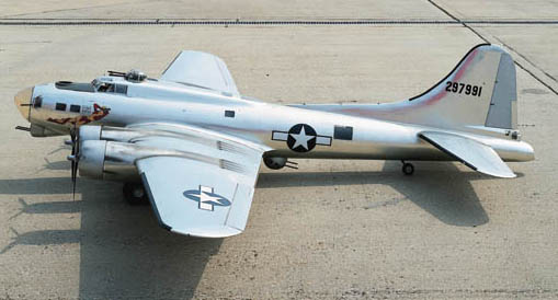 A fine and detailed 1/8th scale flying model of the Boeing B17G bomber aircraft A Bit O' Lace,