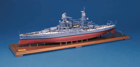An extremely fine and very highly detailed museum display quality 1:192 scale model of U.S. Navy Iowa Class Battleship U.S.S. New Jersey Pennant No.62,
