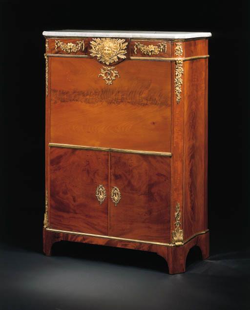 secretaire a abattant d 39 epoque louis xvi attribue a jean henri riesener christie 39 s. Black Bedroom Furniture Sets. Home Design Ideas