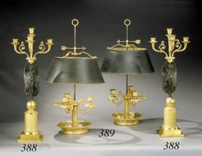 PAIRE DE LAMPES BOUILLOTES DE