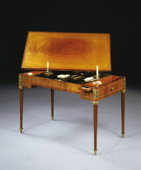 TABLE TRIC-TRAC D'EPOQUE LOUIS
