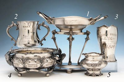 A Silver Plate Yachting Trophy