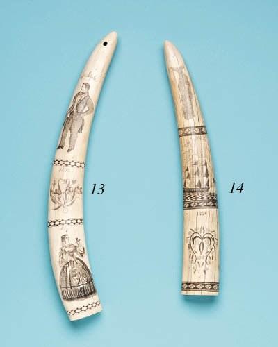 A Scrimshaw Walrus Tusk**