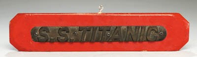 A Cast Brass Name Board From A