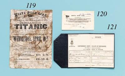 A 1st Class Passenger Ticket F
