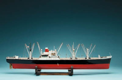 A Ship Model Of The S.S. Ameri