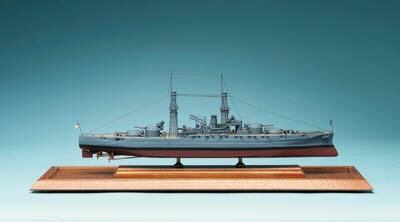 A Model Of The Battleship U.S.