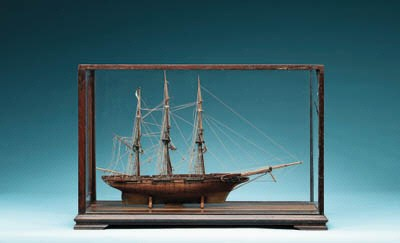 A Model Of Three Masted Naval