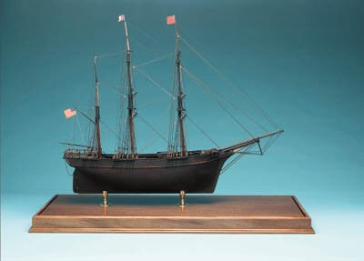 A Ship Model Of A 3-Masted Ame