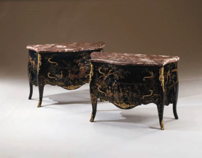 A PAIR OF CONTINENTAL ROCOCO-S